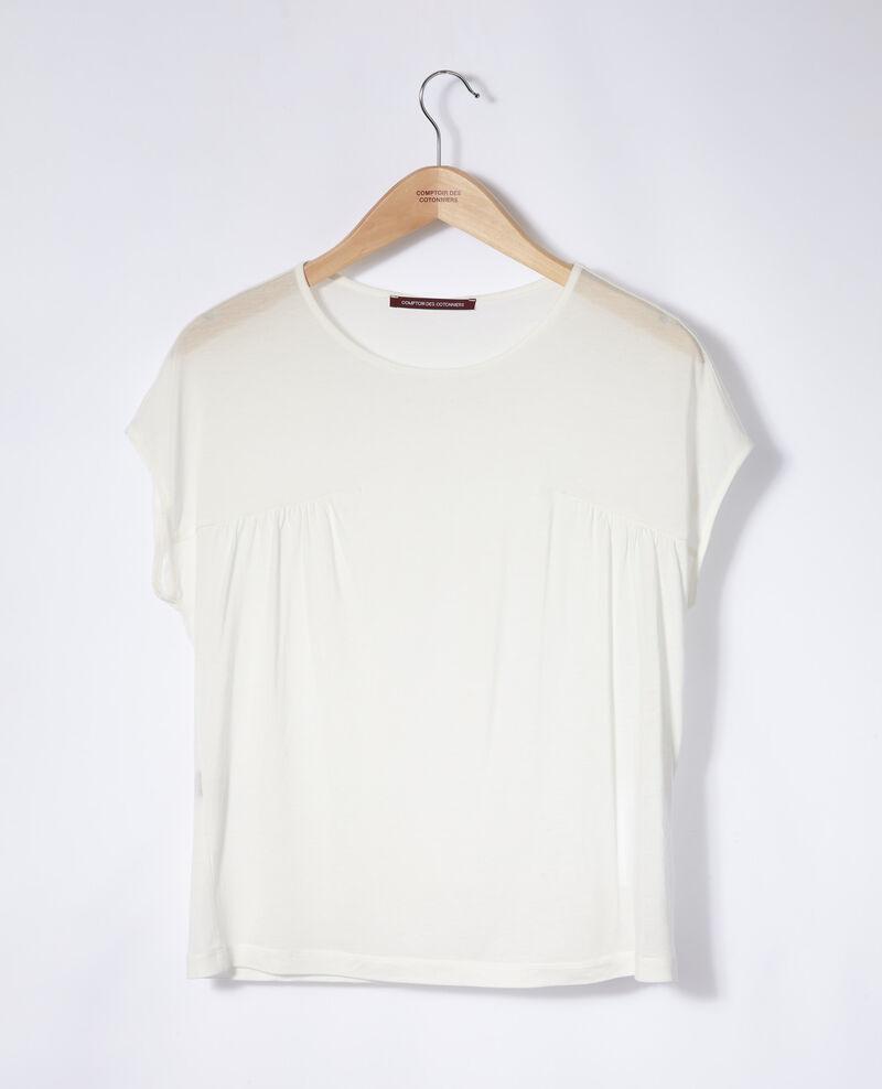 Camiseta de cuello redondo Blanco Gaillet