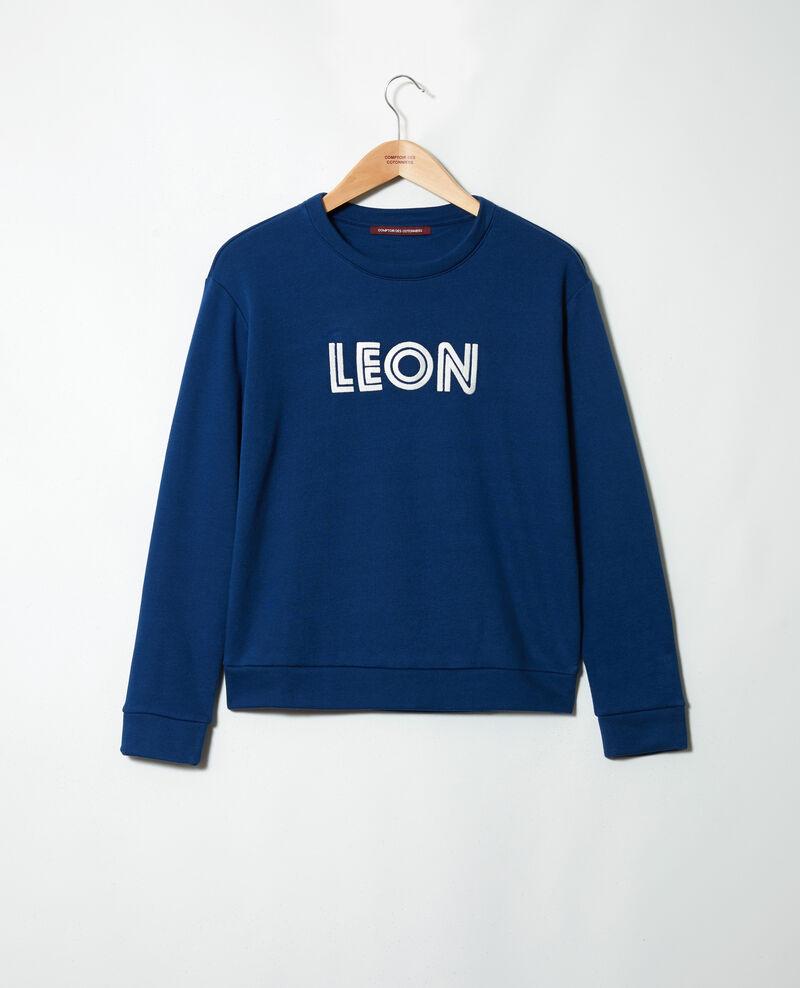 Sweatshirt brodé Léon Dk indigo/ow Igleon