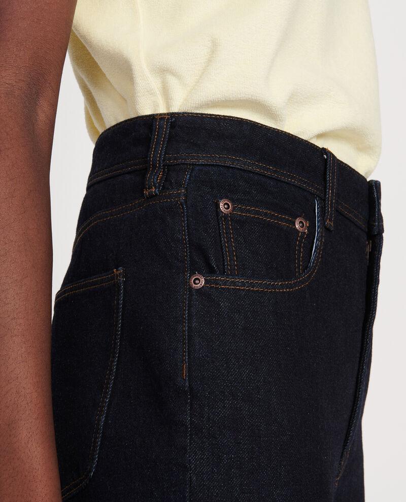 Jeans talle alto y corte recto Denim rinse Leoda