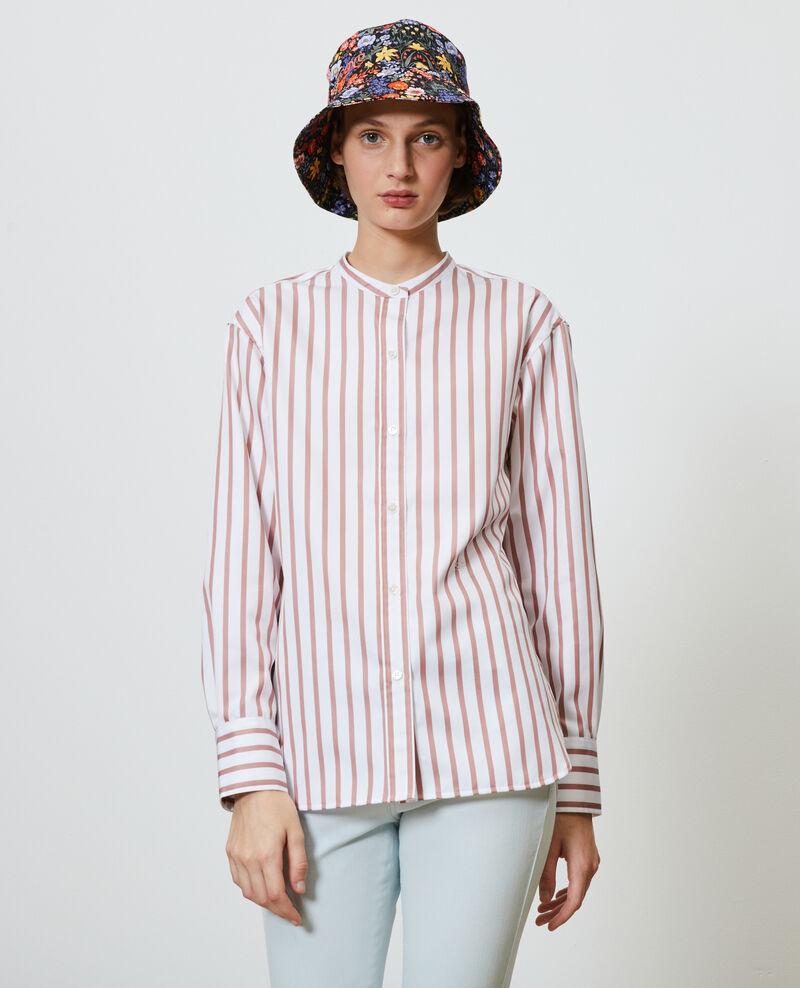 Camisa de algodón con cuello redondo Deauville stripe Nannion
