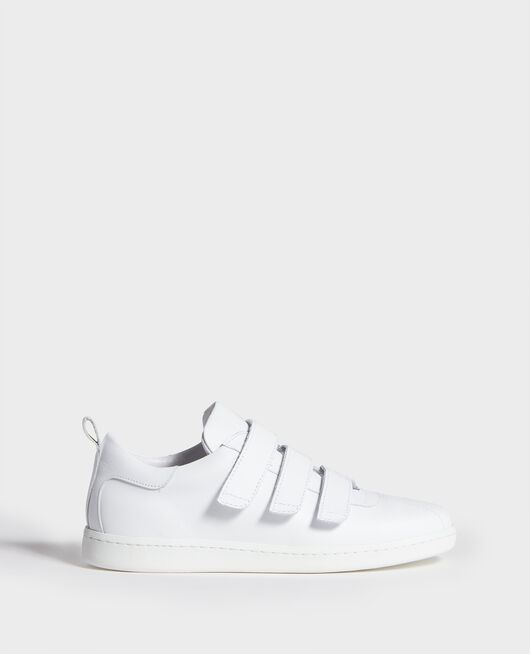 Sneakers de cuero con tiras de velcro OPTICAL WHITE