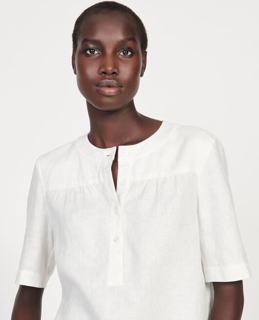 Blusa de lino GARDENIA