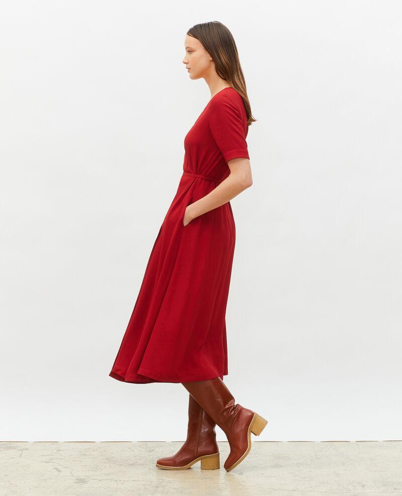 Falda cruzada larga de viscosa Royale red Meymac