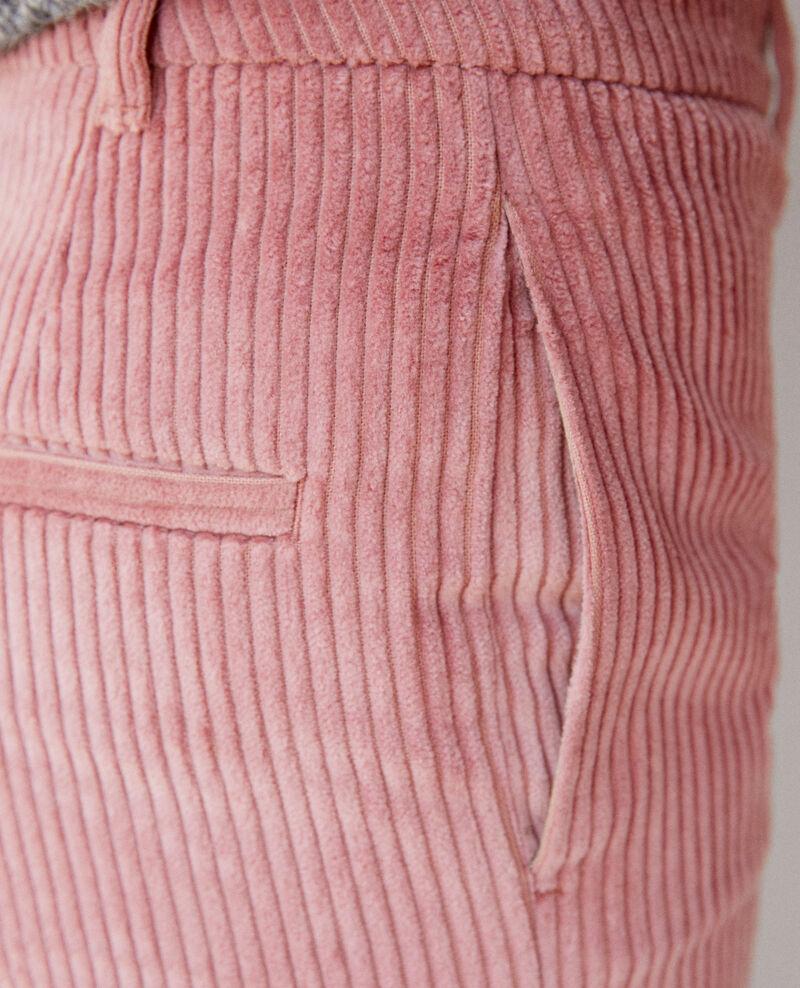 Pantalón de pana gruesa Old rose Ganasso
