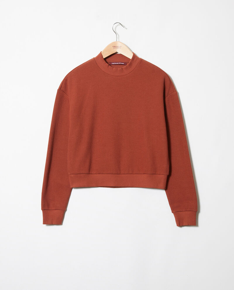 Sudadera corta Brandy brown Jizela