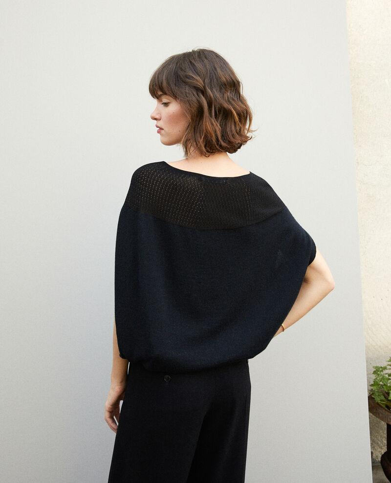 Jersey  wholegarment forma globo Noir Gelsa