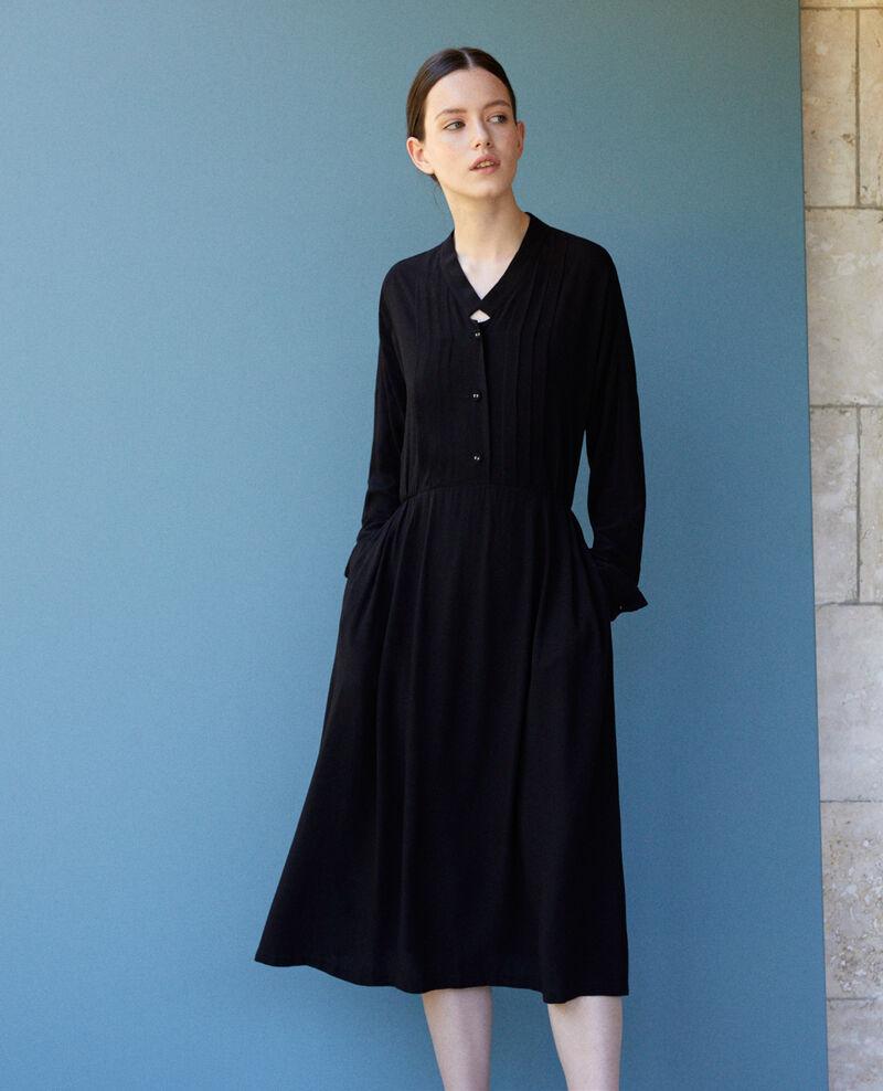 Vestido midi Negro Gevian