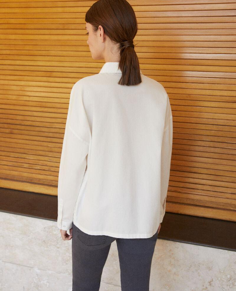 Camisa de corte recto Blanco Gorani