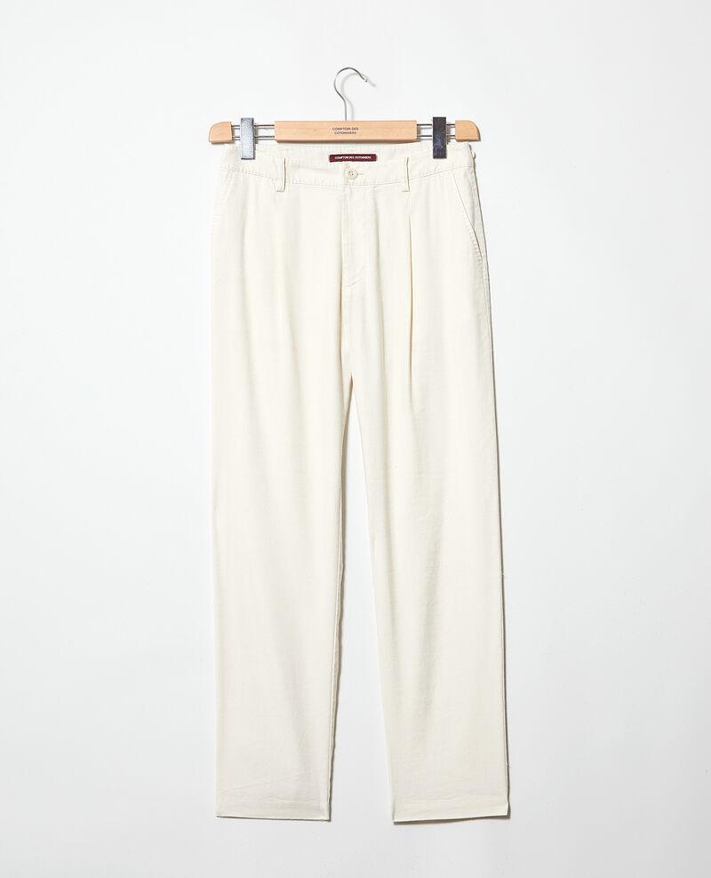 Pantalón corte carrot Off white Imande