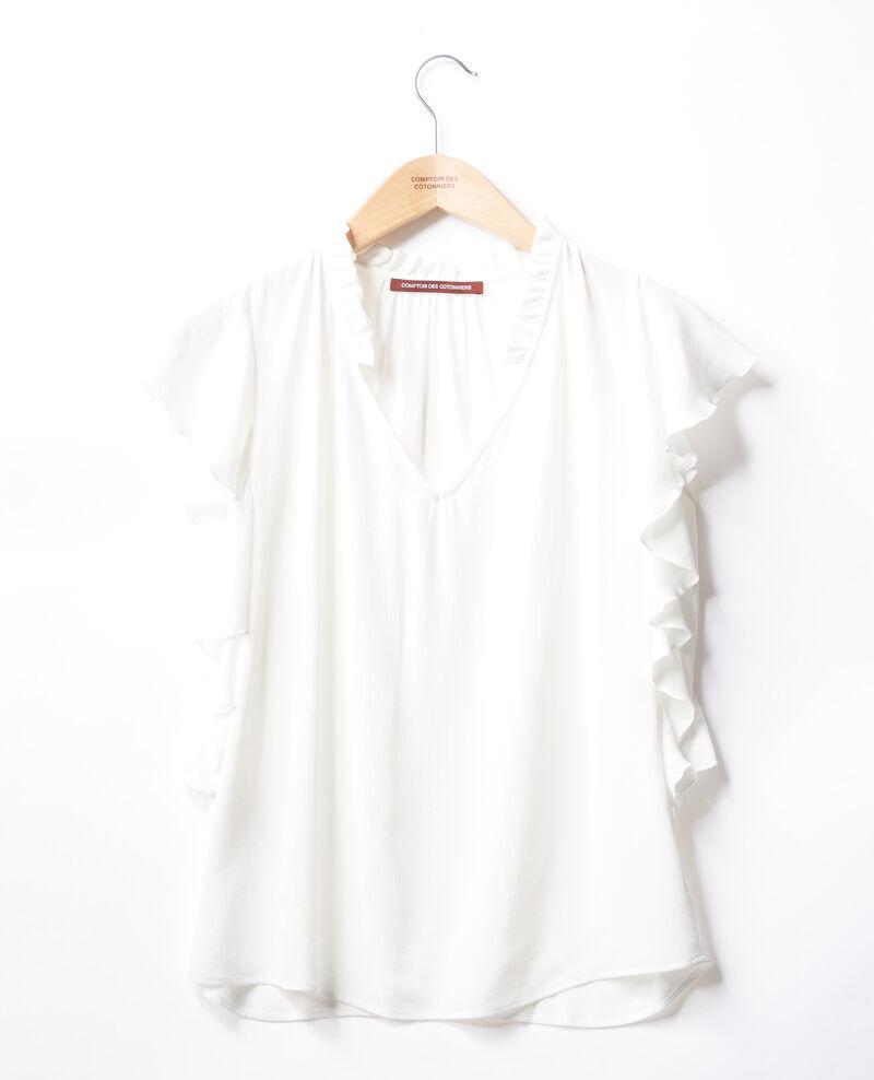 Blusa con volantes Blanco Fretillant