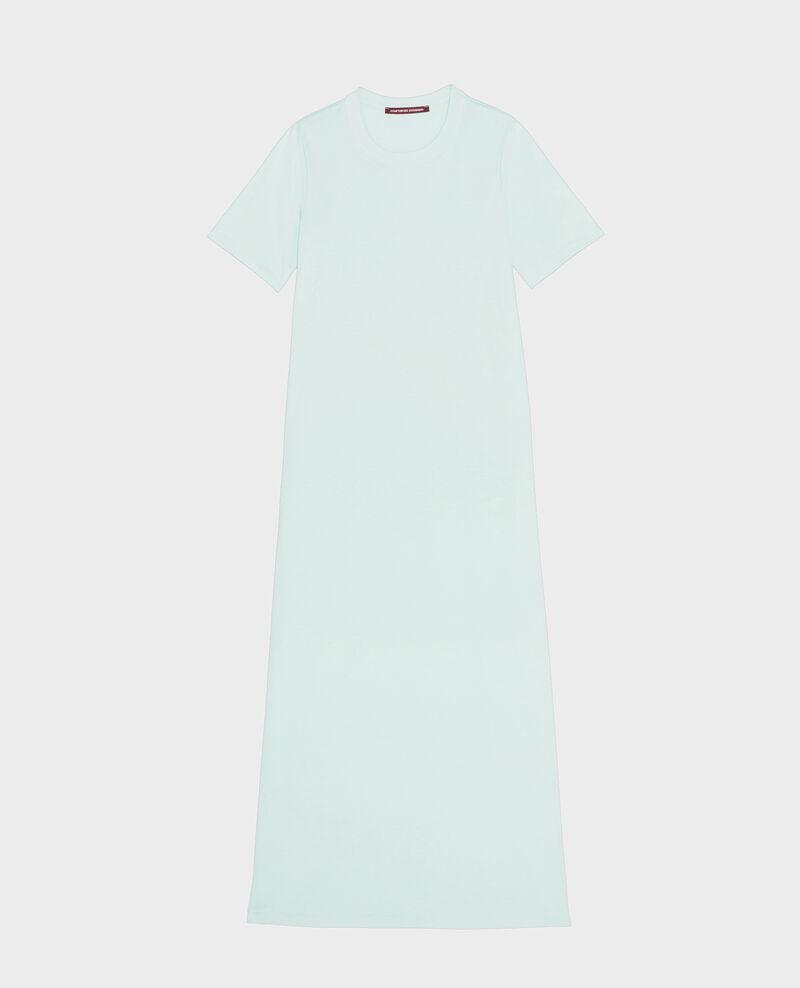 Vestido largo de algodón mercerizado Blue haze Larosata