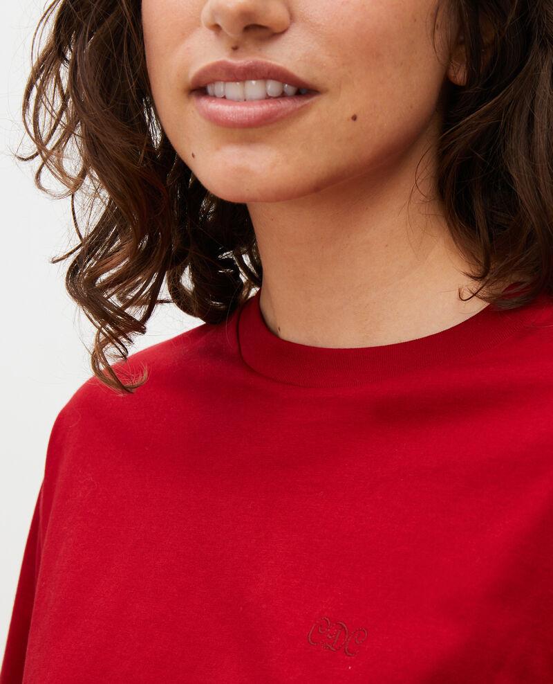 Camiseta de algodón con cuello barco y manga larga Royale red Mainzac