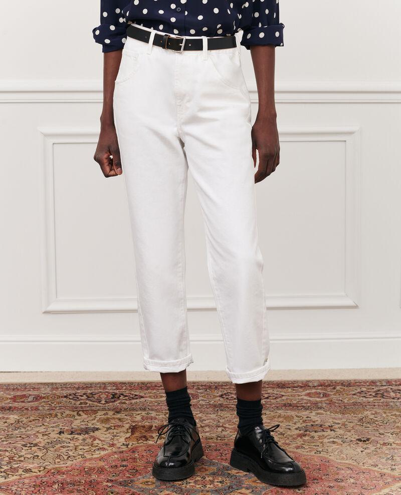 SLOUCHY - Jeans amplios talle medio alto y 5 bolsillos Winter white Meroni