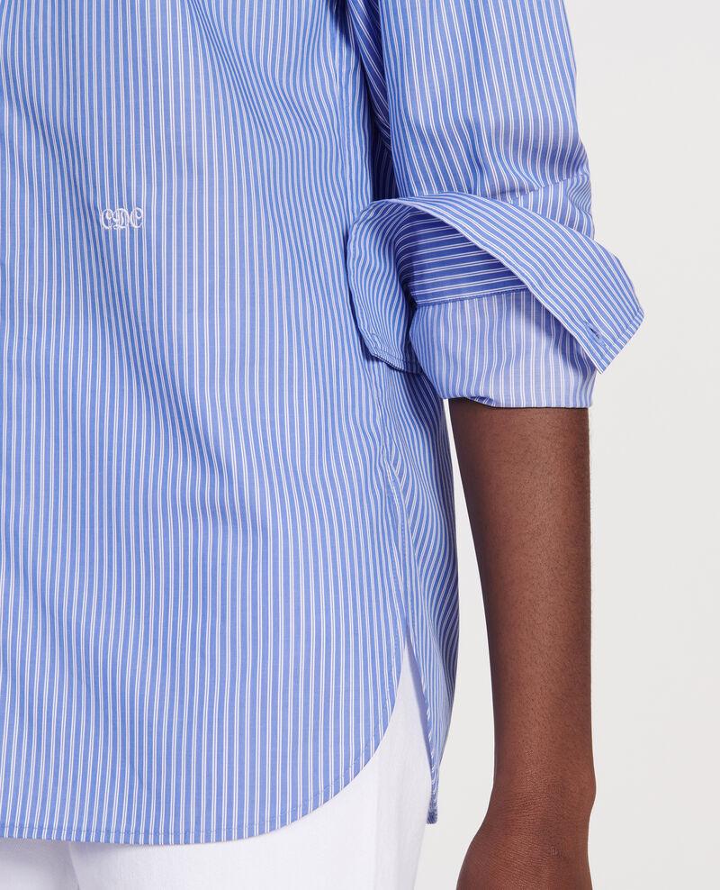 Camisa oversize de algodón Popeline stripe2 Lannion
