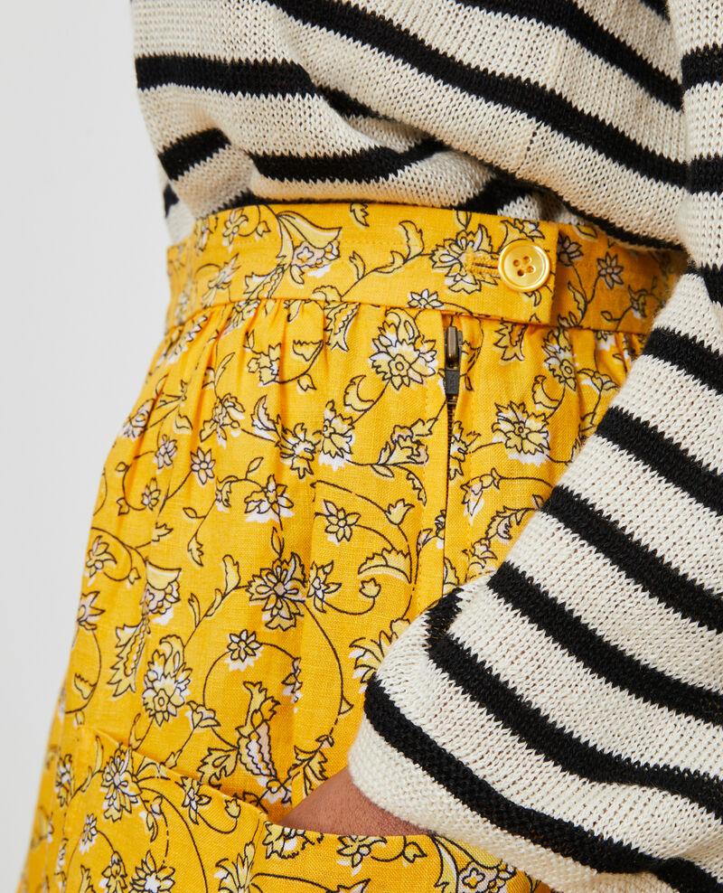 Falda corta de lino Indie-small-yellow Nabios