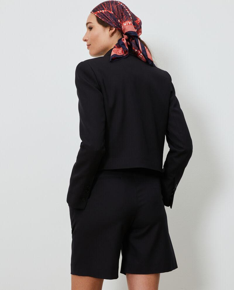 Chaqueta spencer corta de lana Black beauty Narre