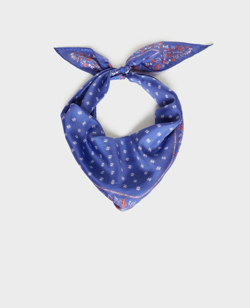 Fular de seda con forma de rombo Royal blue Nandana