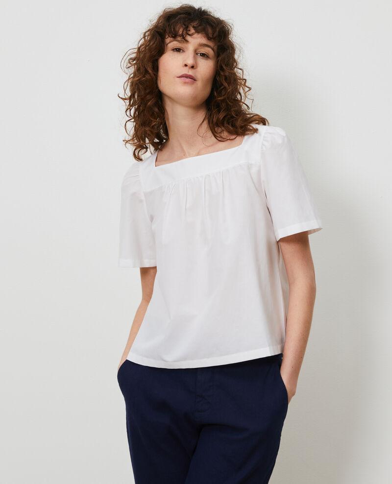 Top de seda y algodón Brilliant white Nondo