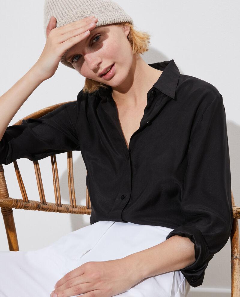 SIBYLLE - Camisa de seda Black beauty Loriges