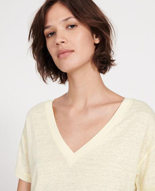 Camiseta de lino de jersey TENDER YELLOW