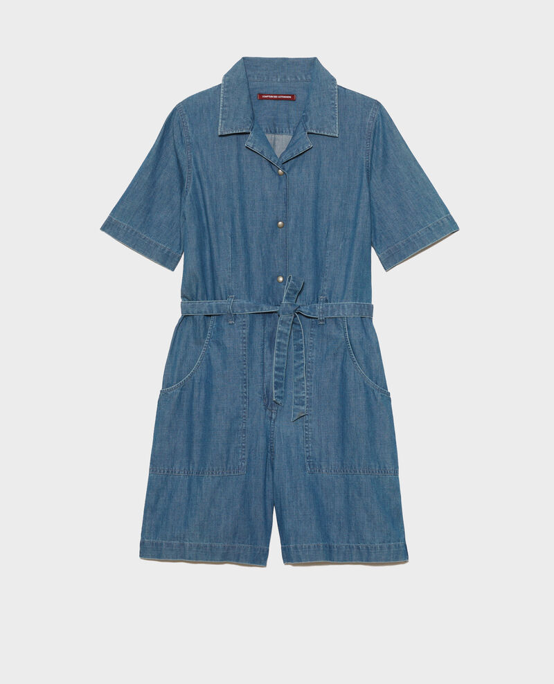 Mono corto en denim Denim blue Ninosa