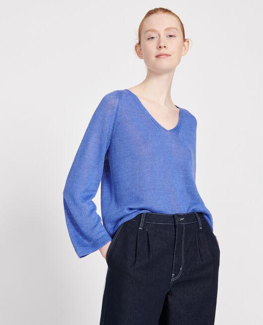Jersey de lino AMPARO BLUE
