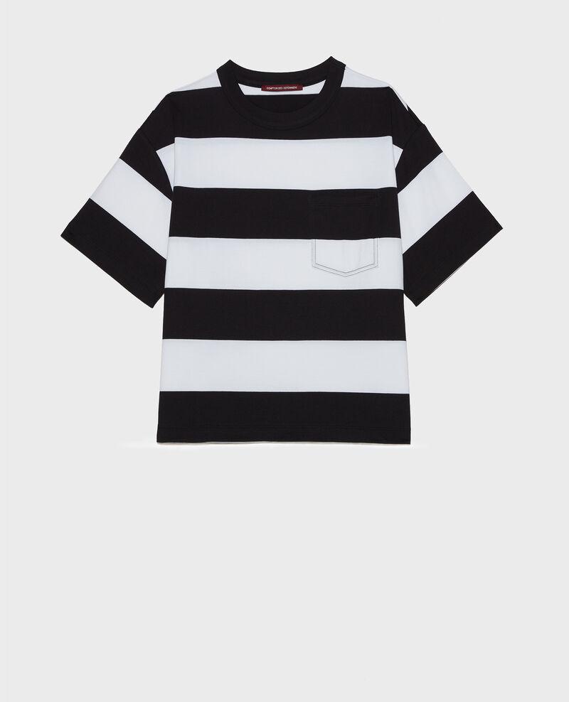 Camiseta rayada oversize Str opticalwhite black Lord