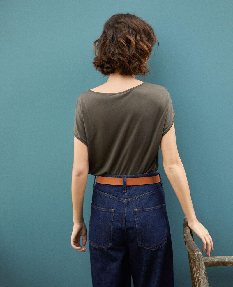 Camiseta de cuello redondo Olive night Gaillet