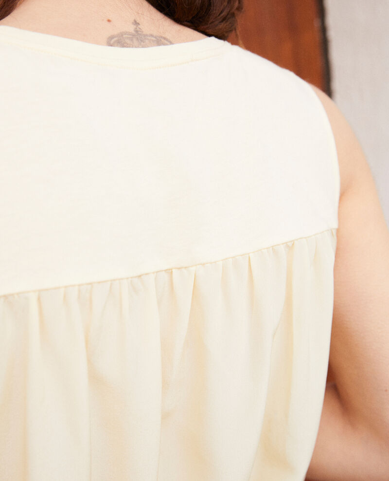 Camiseta de tirantes de doble tejido Light yellow Imotep