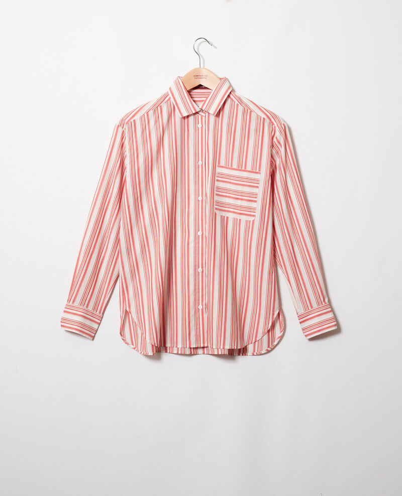 Camisa rayada de algodón Ds molten lava Jadori