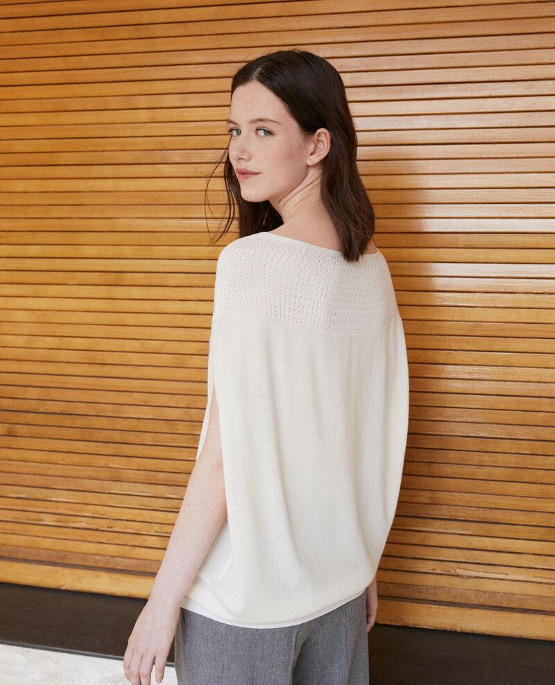 Jersey  wholegarment forma globo Blanco Gelsa