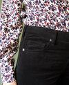 Pantalón de terciopelo liso Noir Juillemin