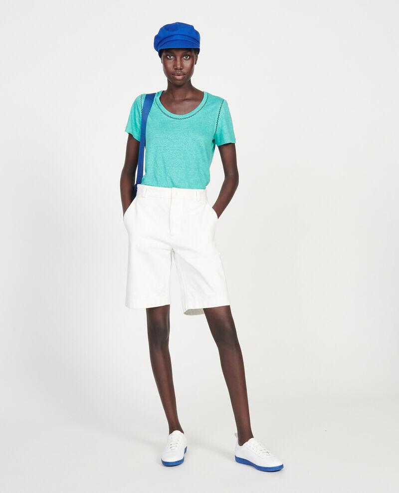 Camiseta de lino de jersey Bright aqua Lye