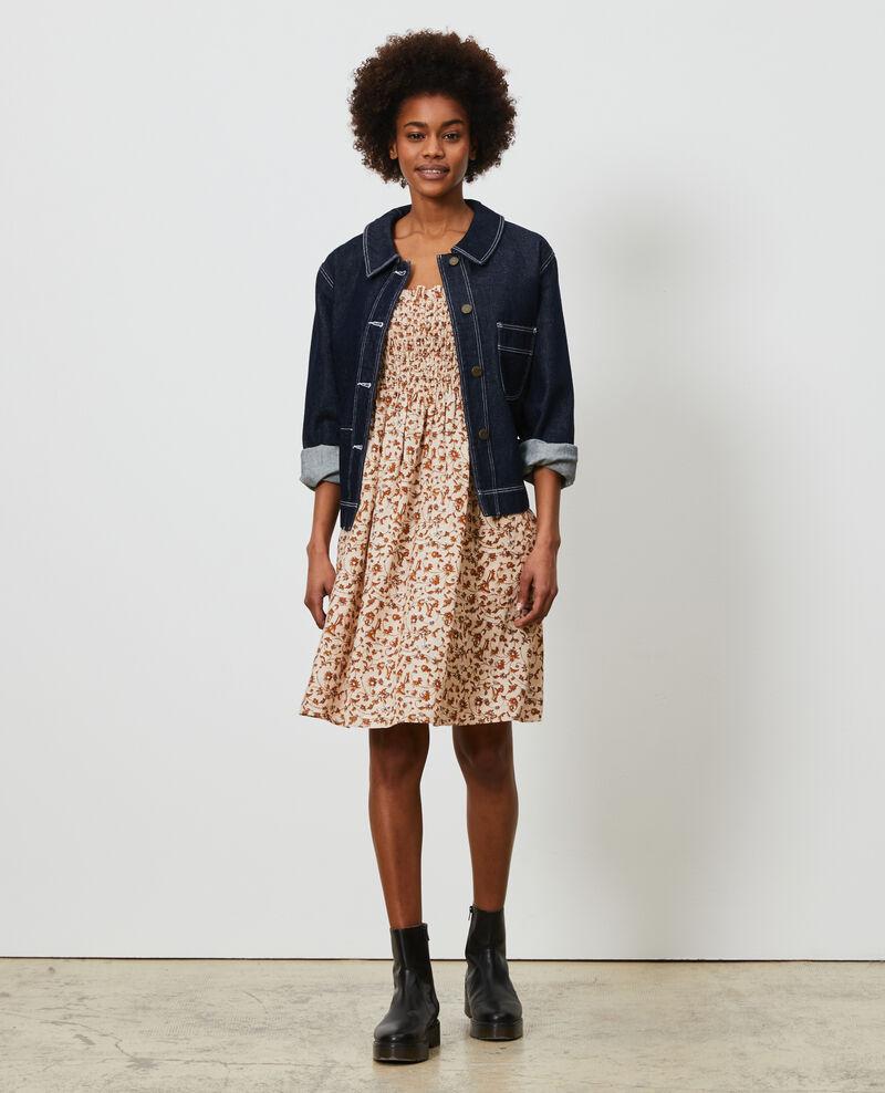 Vestido corto de lino Indie-small-umber Nassandria