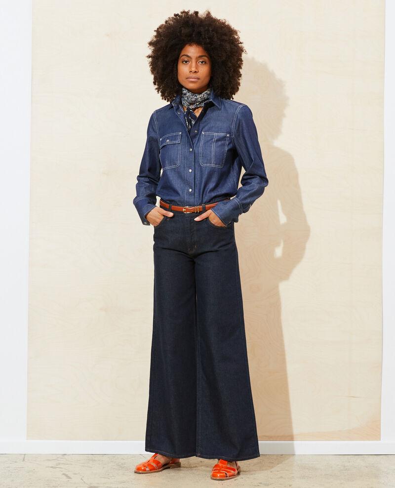 FLARE - Jeans de campana y talle alto Denim rinse Neuflizo