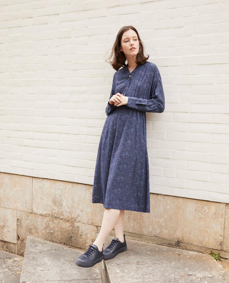 Vestido estampado Azul Geviana
