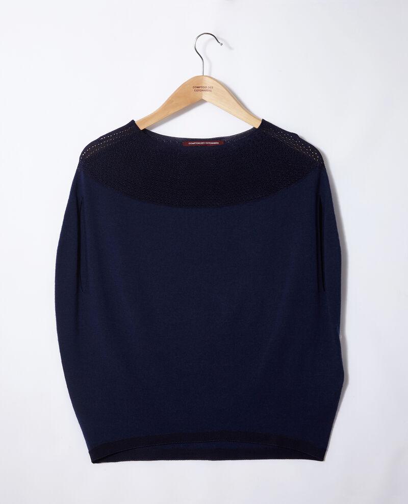 Jersey  wholegarment forma globo Medieval blue Gelsa
