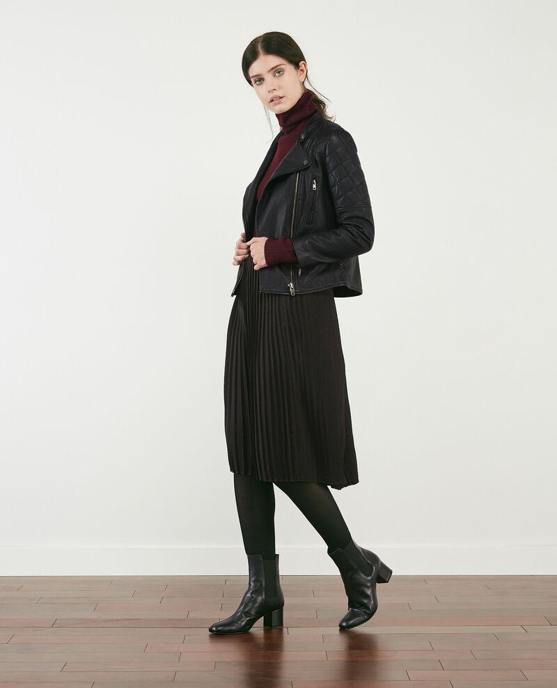 Falda plisada Noir Dallerine