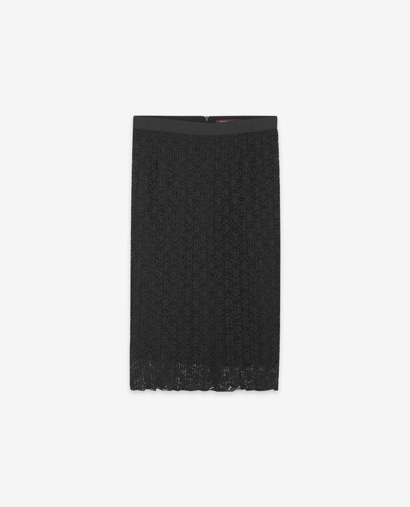 Falda plisada de encaje Noir Dohio