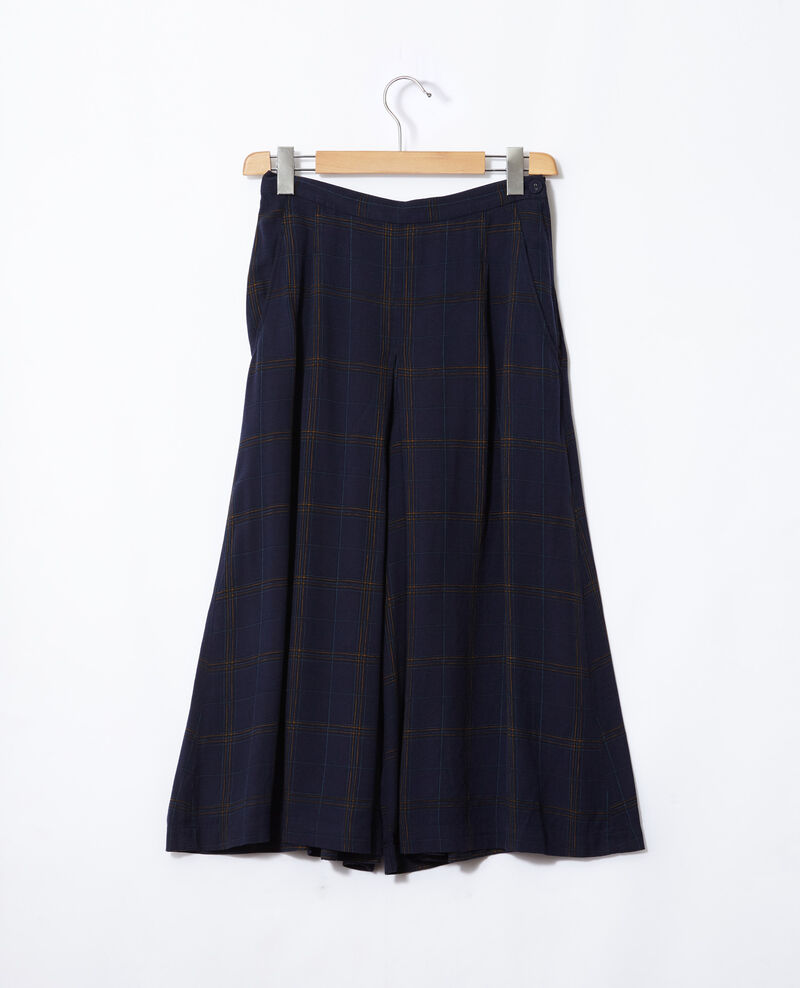 Falda pantalón acampanada Azul Gickey