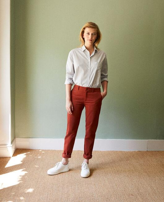 Pantalones chinos de tela  BRANDY BROWN