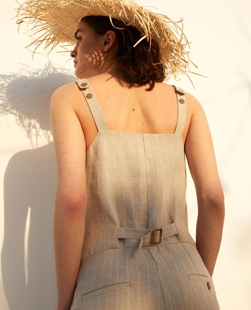 Combinaison en lin Natural linen/off white Inac