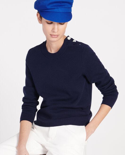 Jersey de lana atemporal MARITIME BLUE