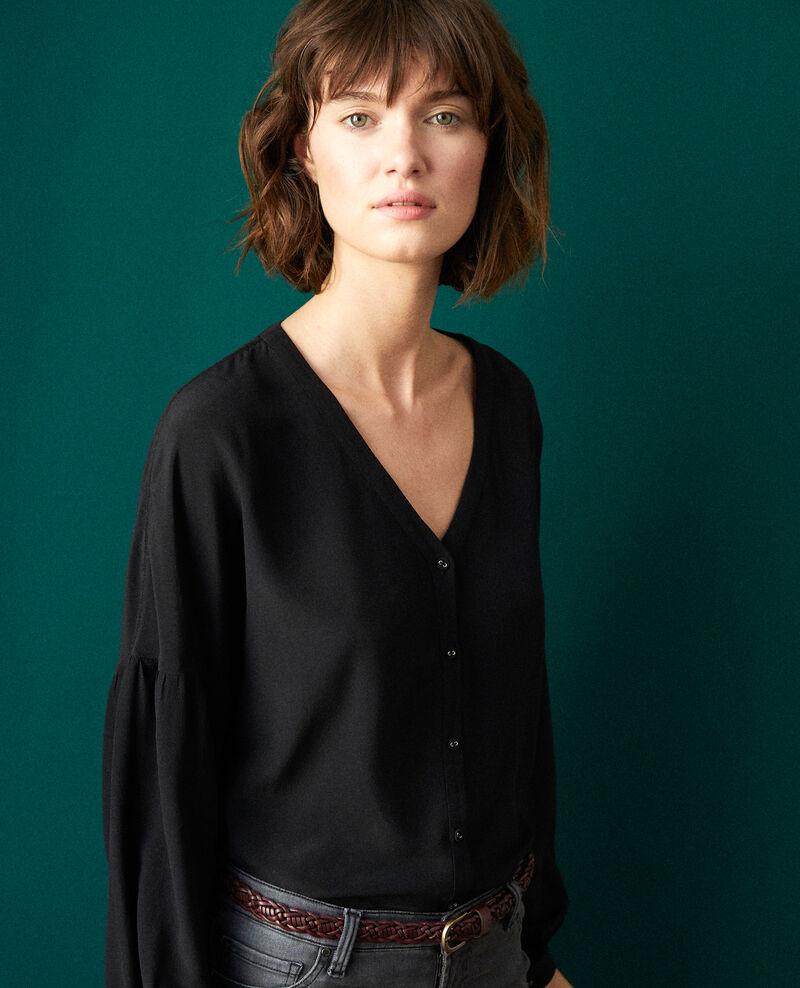 Blusa con escote de pico Noir Gaucelin