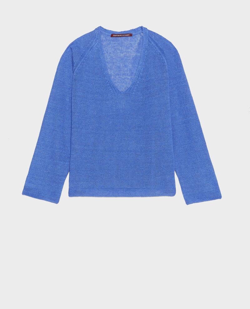 Jersey de lino Amparo blue Lacajou