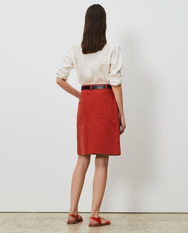 Falda con botones de sarga de algodón Ketchup Naubrac