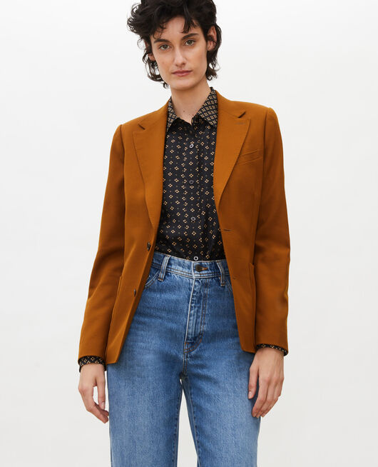 Blazer ligero de lana lisa MONKS ROBE