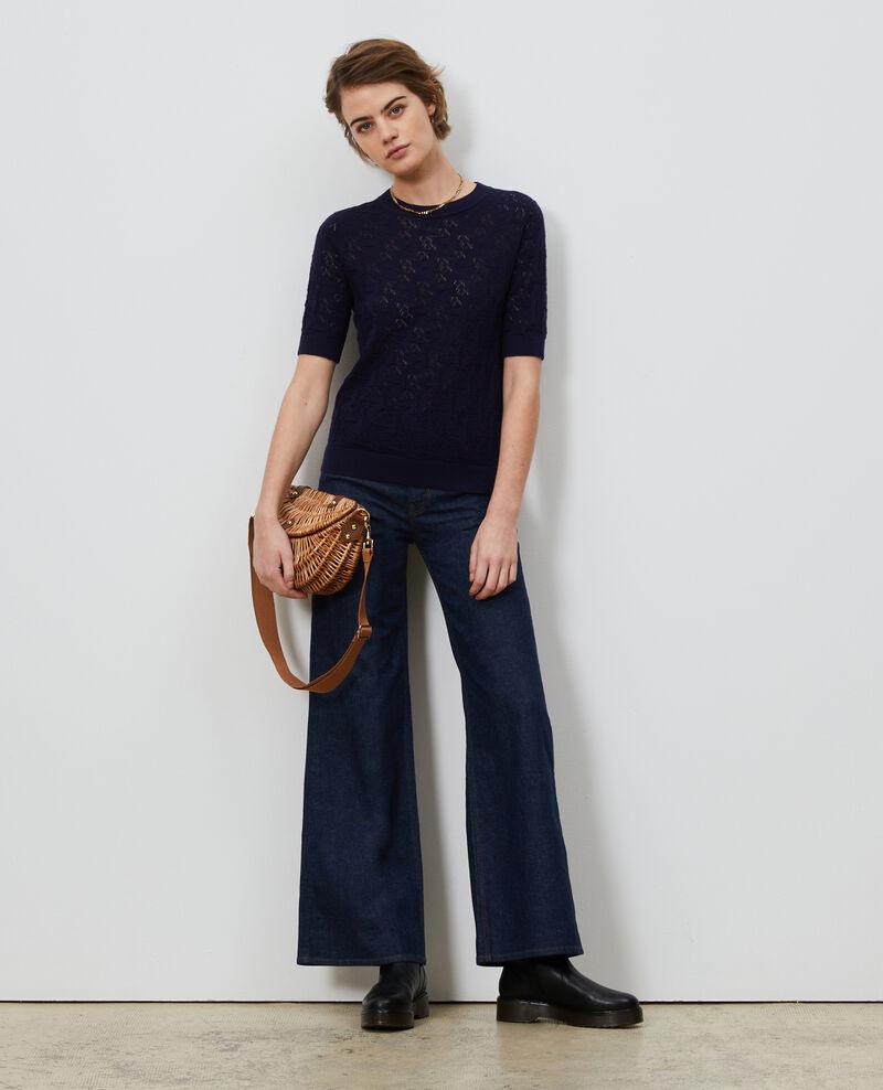 Jersey de algodón y lino Maritime blue Lagos