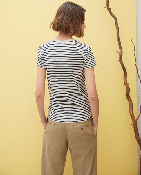 Comptoir des Cotonniers - Camiseta de rayas Beige/navy - 4