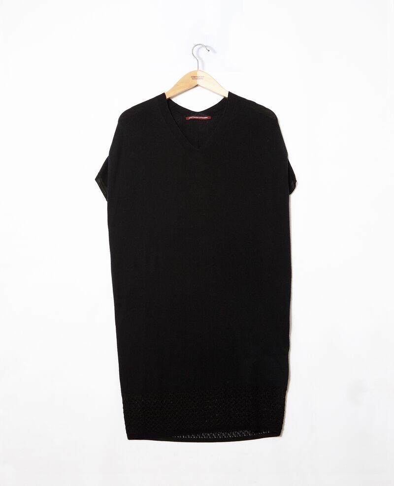 Vestido de punto sin costuras Negro Gedith